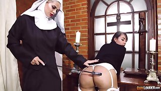 Passionate fairy carnal knowledge motivation two kinky pornstars dressed as nuns