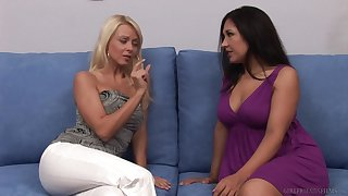 Lesbian pussy licking and fingering with Zoe Britton and Jana Cova