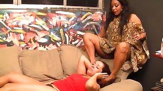 lesbian brasilian degrading gagging