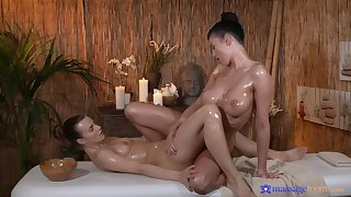 Sensual massage makes Lucy Li wet and she has dealings with Suzie Carina