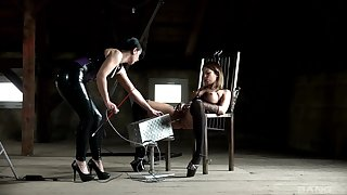 Natalie Hot gets common away from her dominatrix in a hot BDSM session