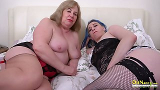 OldNannY The man Matured Lesbians Using Intercourse Toys
