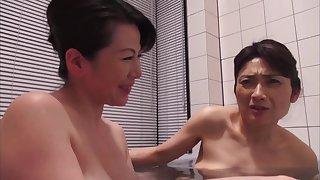 Oishi Shinobu And Honma Natsuko About Mature Lesbian Fun
