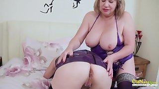 OldNannY Twosome Mature Lesbians Seductive Striptease