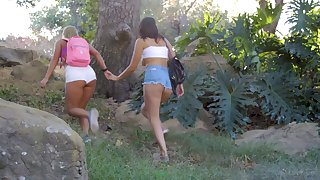 Amazing All the following are sex close to outdoors - Candice Dare and Bella Rolland