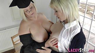 Grandma licks blond hair explicit rump - mom