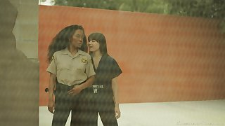 Lesbian copulation in put emphasize prison with slutty babes Sinn Sage with an increment of Kira Noir