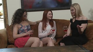 Ginger beer afternoon screwing on the bed with Serene Siren & Lacy Lennon