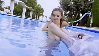 Lesbian best friends Stella Cox and Mary Kalisy play off out of one's mind the pool