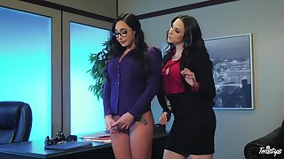 Naughty secretry punished by say no to big wheel - Karlee Aged with an increment of Chanel Preston