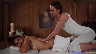 Alyssa Reece and Melody couldn't hold get over it dealings with each other, in a massage room