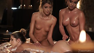 Always become successful way to end knead and Gina loves dewy lesbian threesomes