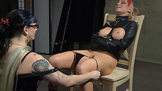 Jade Thomas & Simon Blackthorne in Please Take My Huff and puff Off - Femdom Lesbian Domination - KINK