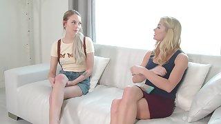 Morning pansy sexual intercourse between pornstars Unagitated Siren and Lily Larimar