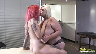 OldNannY British Mature and Lesbian Striptease